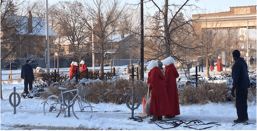 The Handmaid's Tale was filming Season 2 at Wychwood Barns today (PHOTOS)