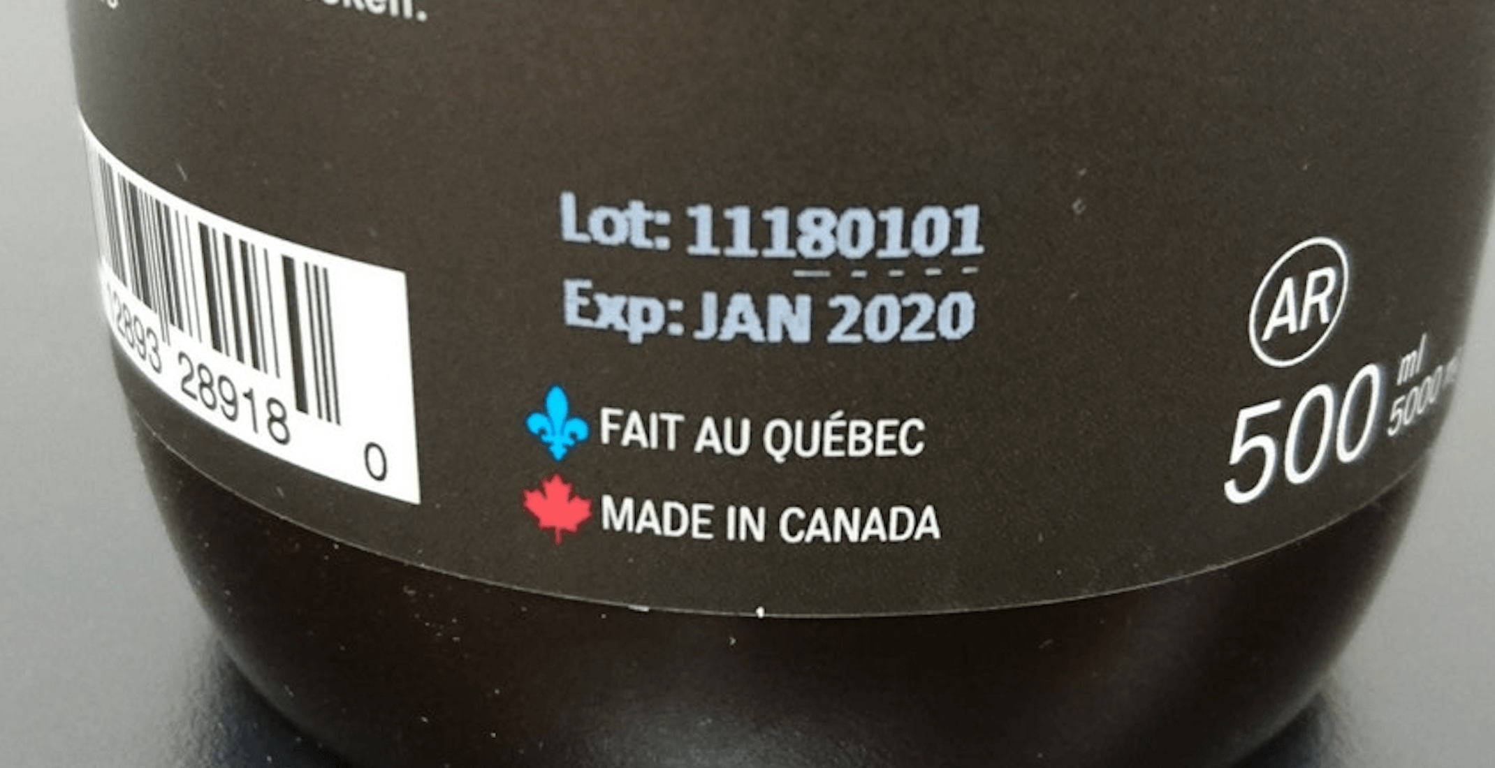 Spotted on Reddit: This confusing product label sums up the Quebec-Canada relationship