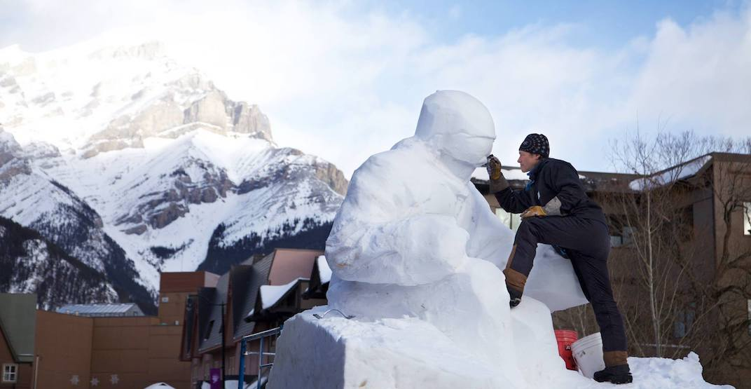 Banff snow sculptures