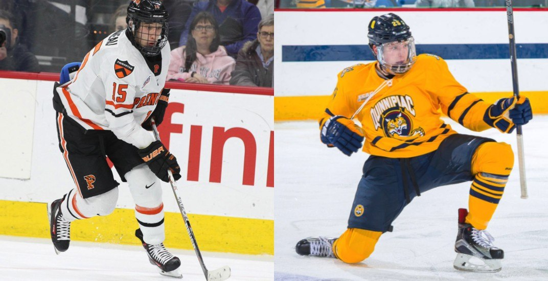 Report: Canucks interested in signing 2 NCAA free agent prospects