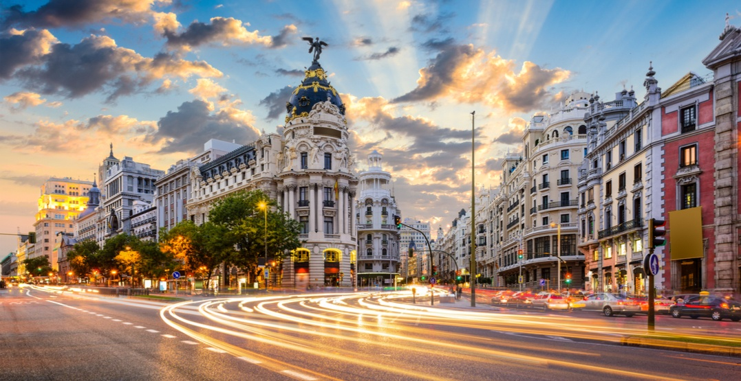 You can fly from Calgary to Madrid, Spain for $726 roundtrip this spring