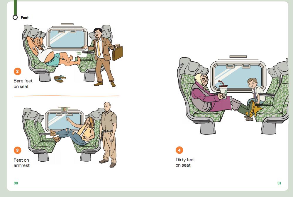 Transit etiquette