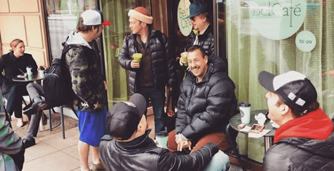 Adam Sandler has 'morning coffee with the fellas' at Vancouver coffee shop