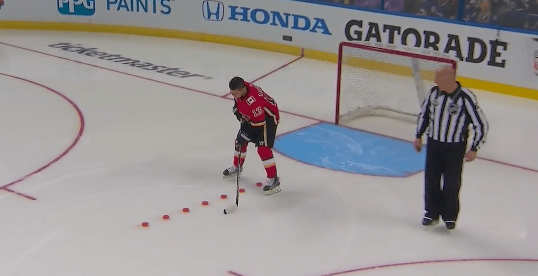 Flames' Gaudreau wins puck control relay at NHL All-Star Skills Competition (VIDEO)