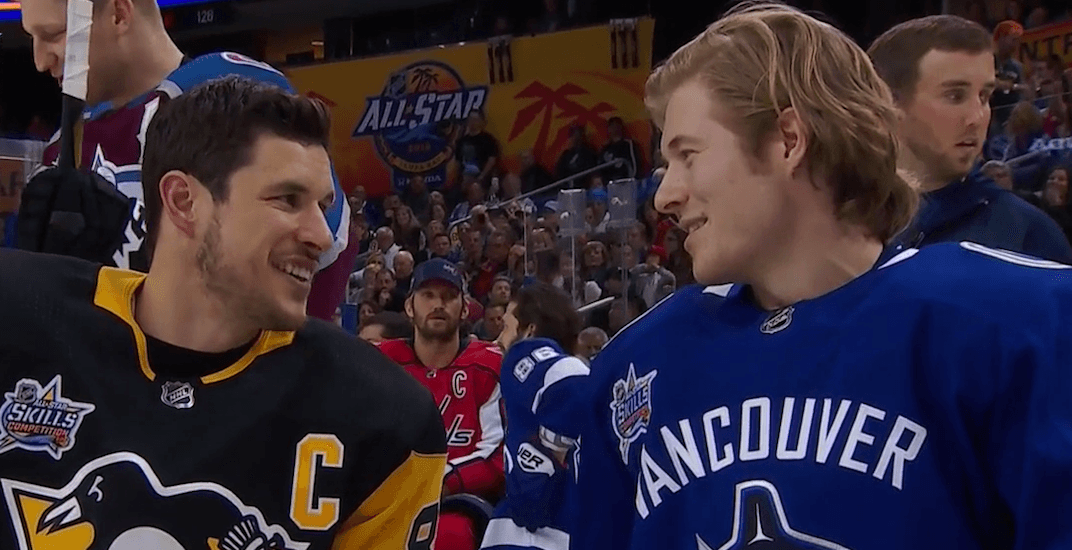 Boeser wins accuracy shooting competition at NHL All-Star Skills Competition (VIDEO)