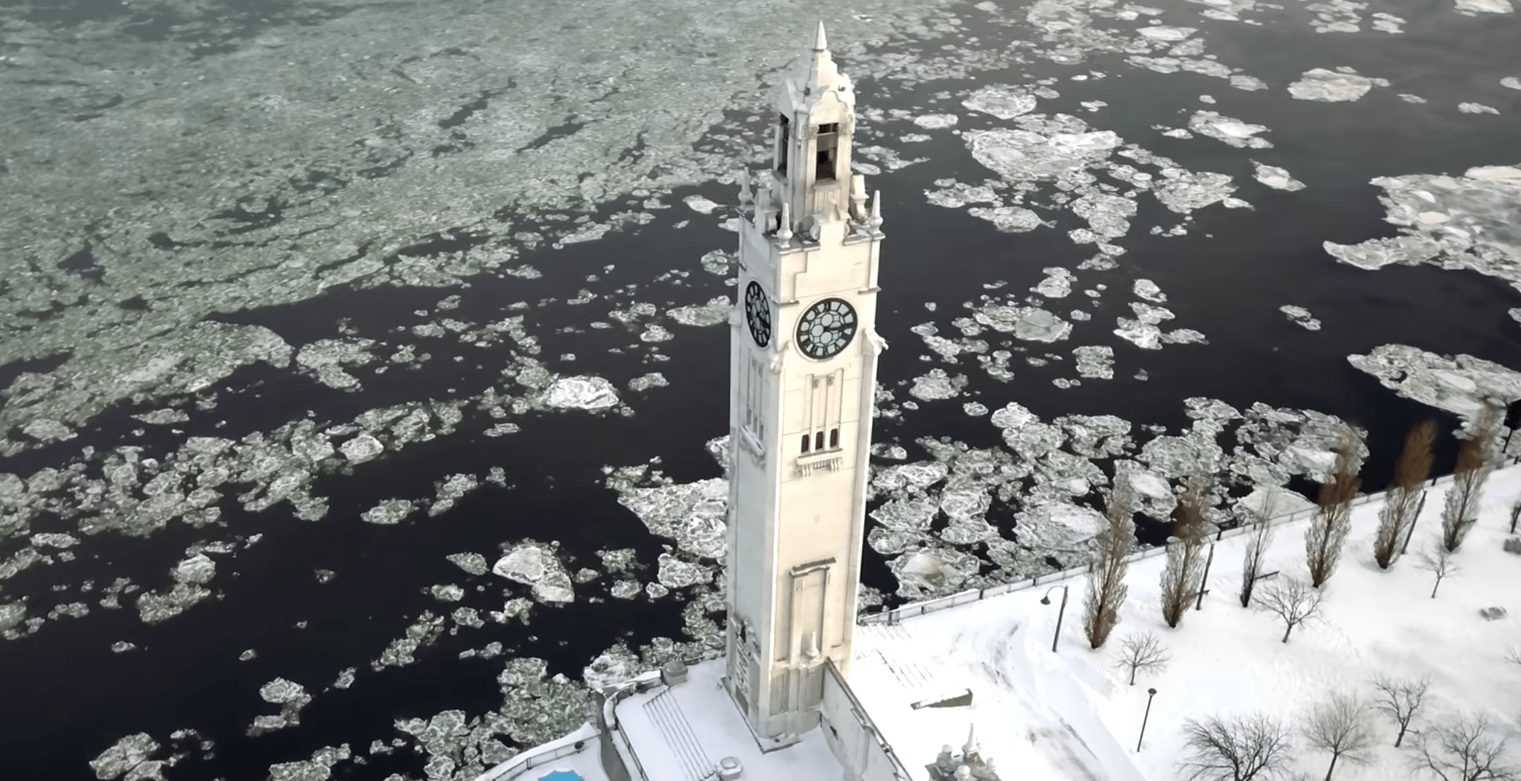 Drone footage captures how stunning Montreal is during winter (VIDEO)