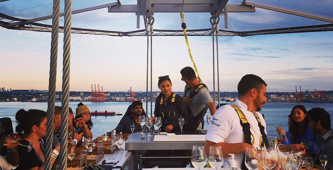 150 feet high: Dinner in the Sky returns to Vancouver this summer