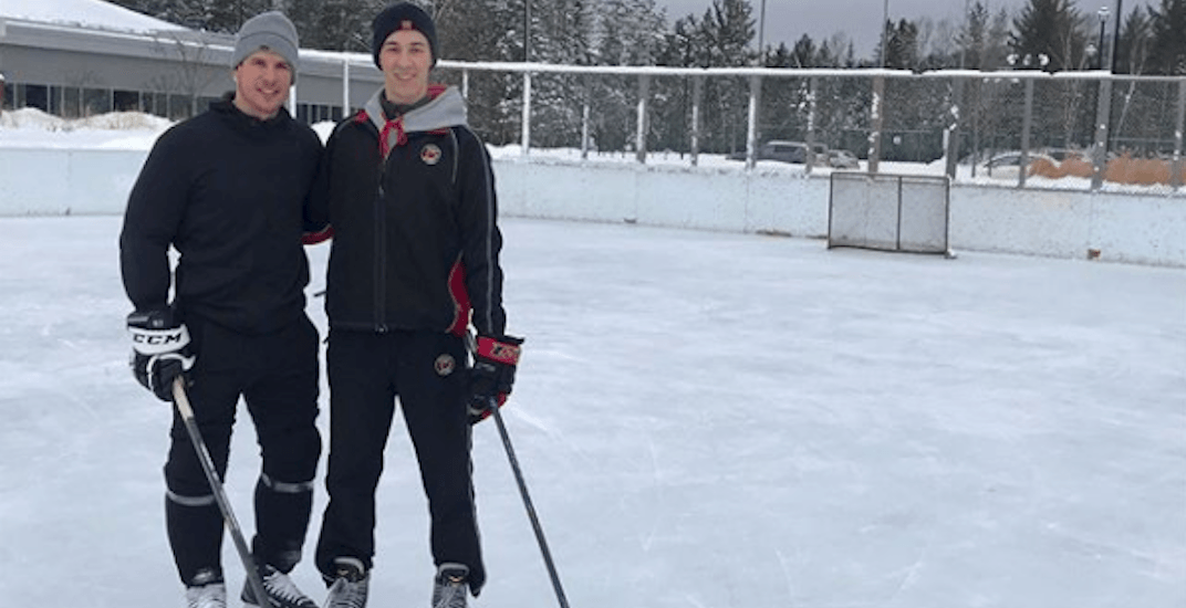 Quebec teen has 'once in a lifetime' surprise skate with Sidney Crosby (PHOTOS)