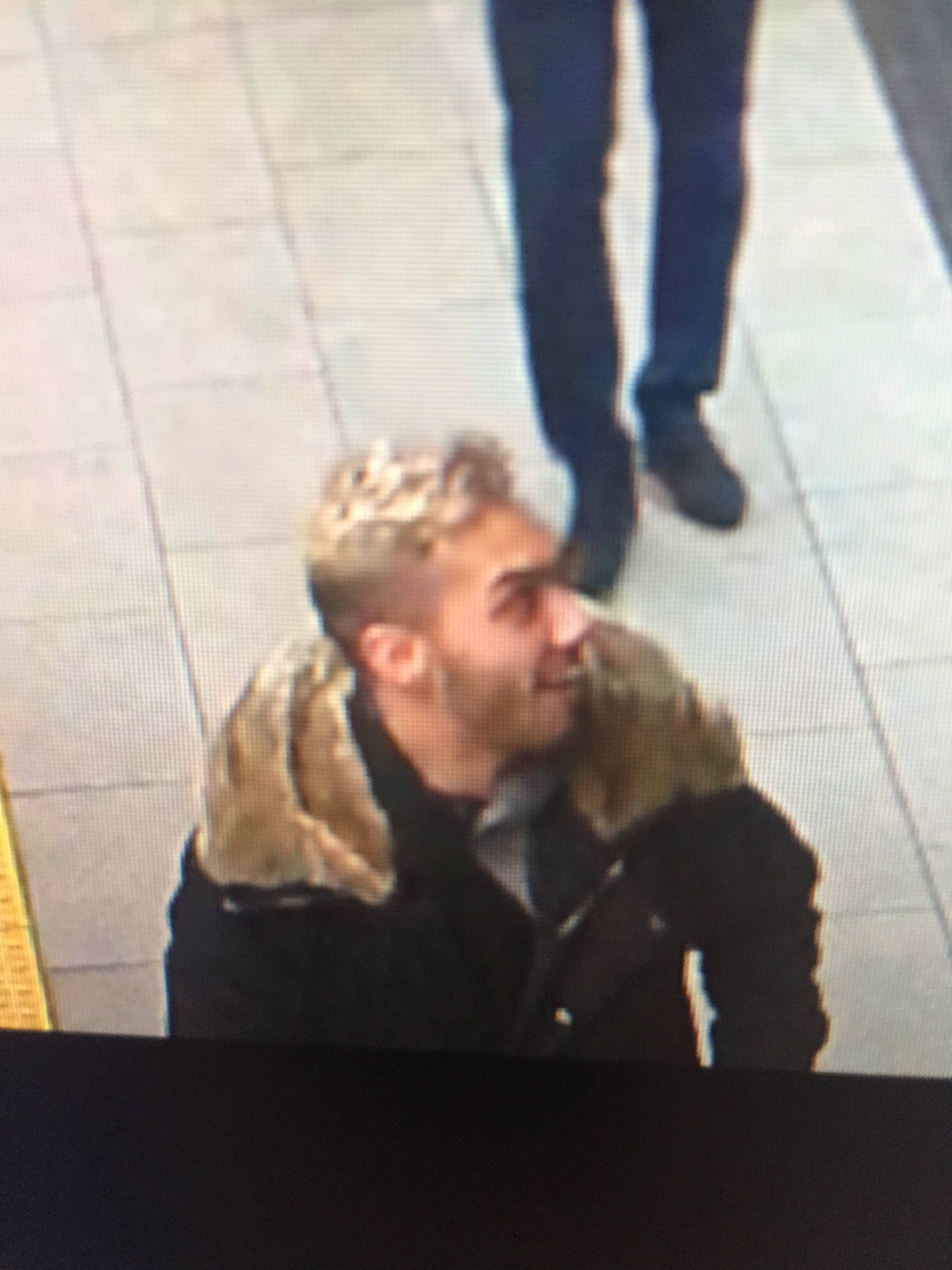 This man has been identified as a suspect in the SkyTrain sexual assault case (Metro Vancouver Transit Police)