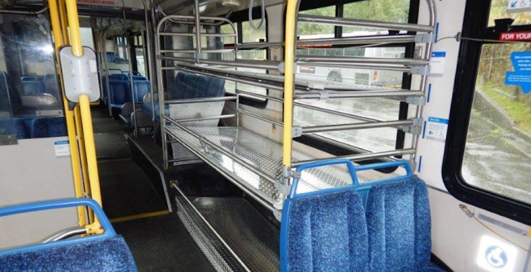 Translink bus luggage rack