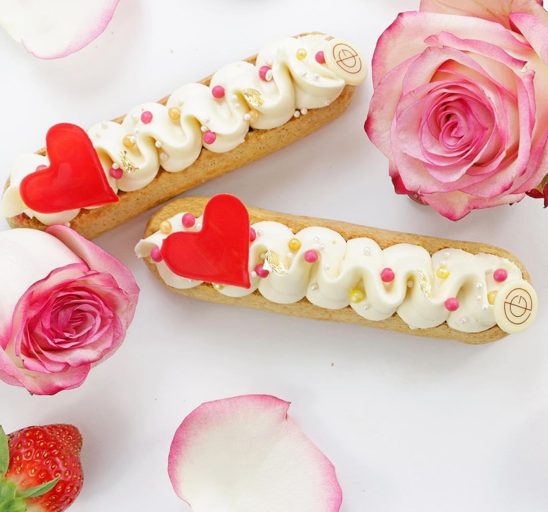 valentine's day eclairs