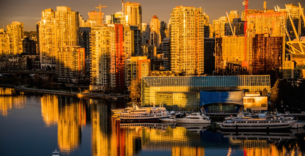 Vancouver skyline sunrise