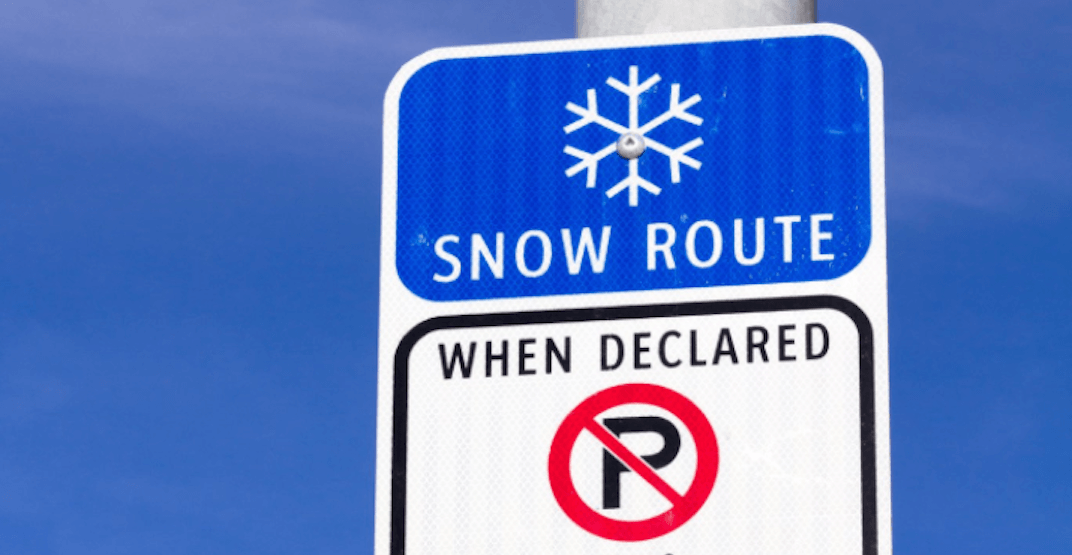 The snow route parking ban will be lifted throughout Calgary this evening