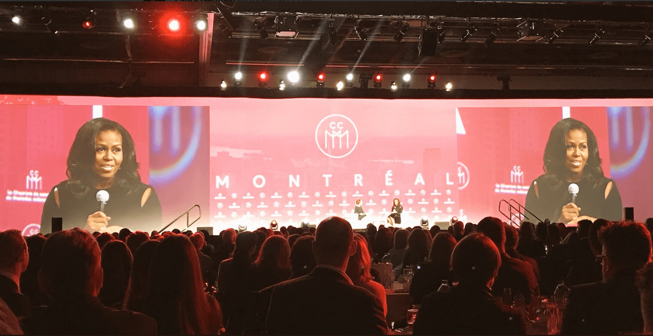 Former first lady Michelle Obama inspires sold out crowd in Montreal (PHOTOS)
