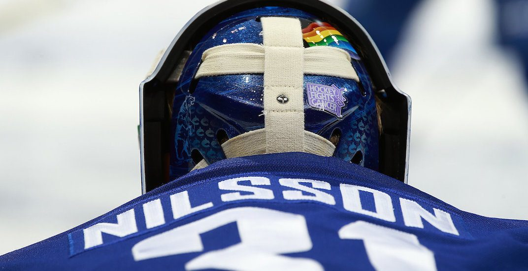 Canucks goalie Nilsson wins prestigious LGBTQ award in Sweden