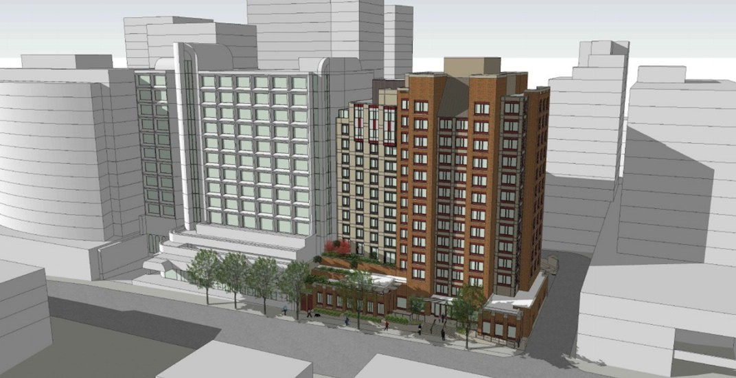 YWCA Hotel in downtown Vancouver proposes 11-storey expansion