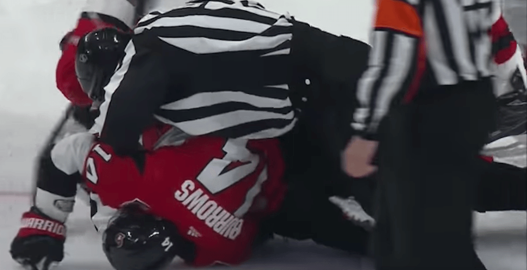 NHL suspends Alex Burrows 10 games for kneeing Hall in the head (VIDEO)