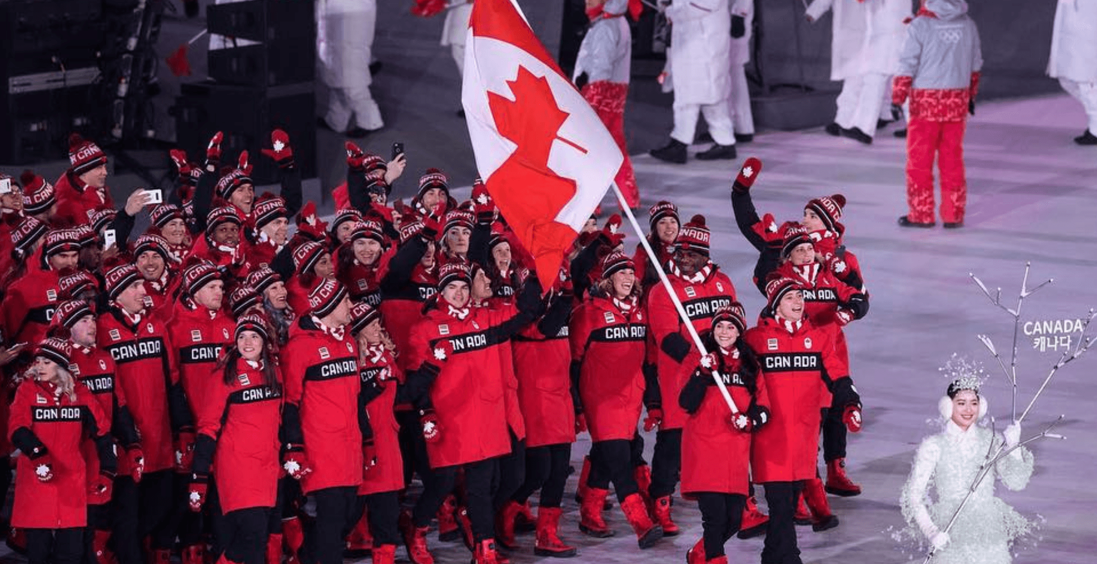 The Eh-Team: Canada dazzles at Pyeongchang Opening Ceremony (PHOTOS)