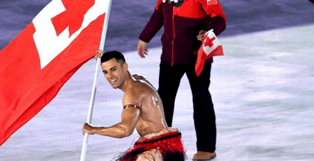 Shirtless Tonga guy is back and oiled up as ever for Winter Olympics (PHOTOS)
