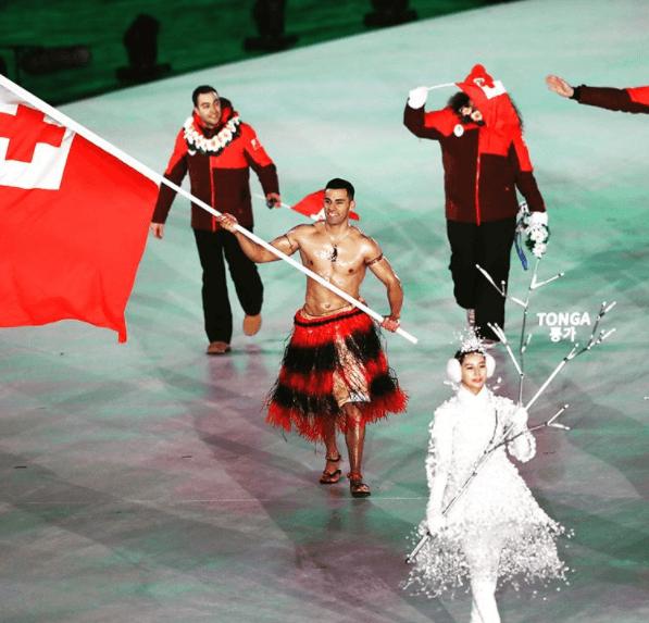 tonga olympics flag bearer