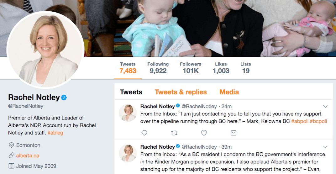 Rachel Notley has been trolling John Horgan on Twitter over pipeline feud