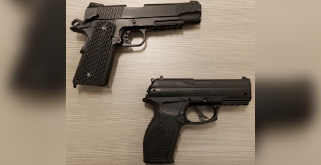 Skytrain fake guns