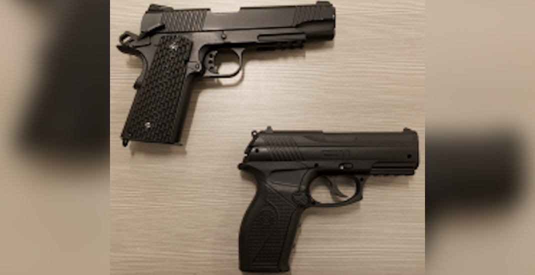 Police find 2 fake handguns 2 days in a row on SkyTrain