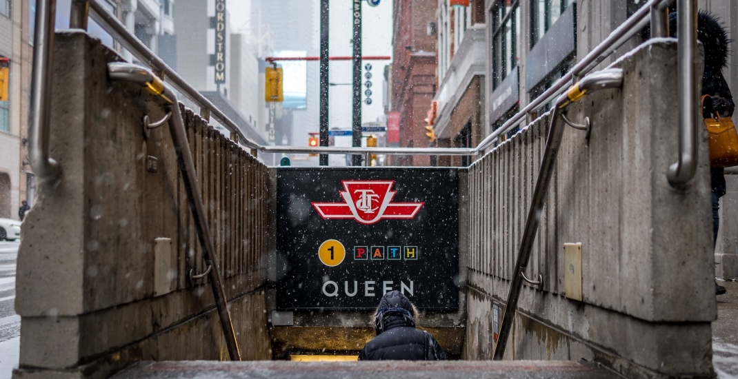 TTC Queen street subway winter toronto