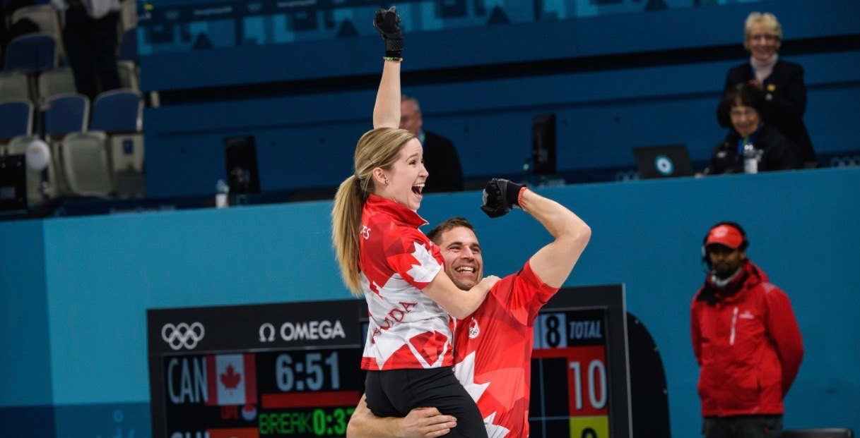 Canada wins the first-ever Olympic gold medal in mixed doubles curling