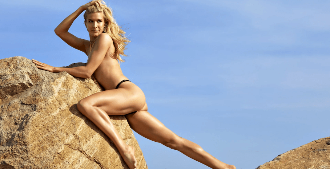 Genie Bouchard poses topless in Sports Illustrated Swimsuit Edition 2018