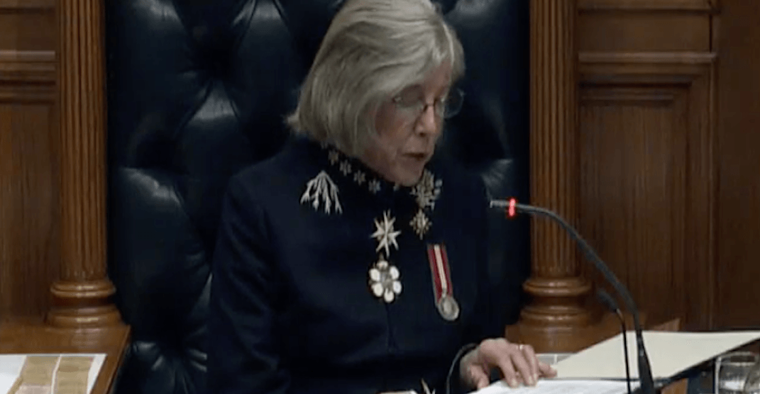 BC government's throne speech highlights housing and affordability