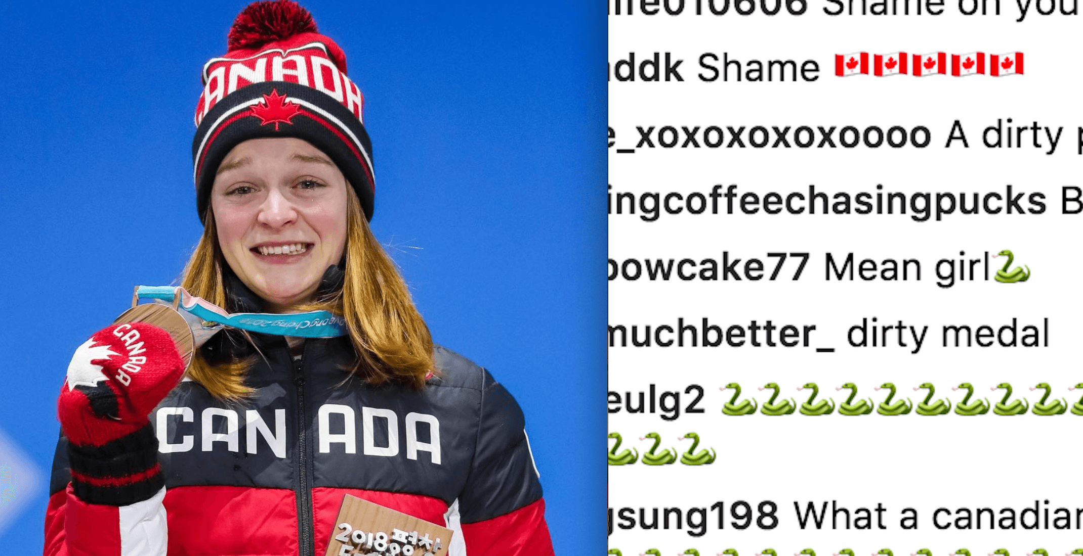 Canadian speed skater Kim Boutin receives online threats after medal win