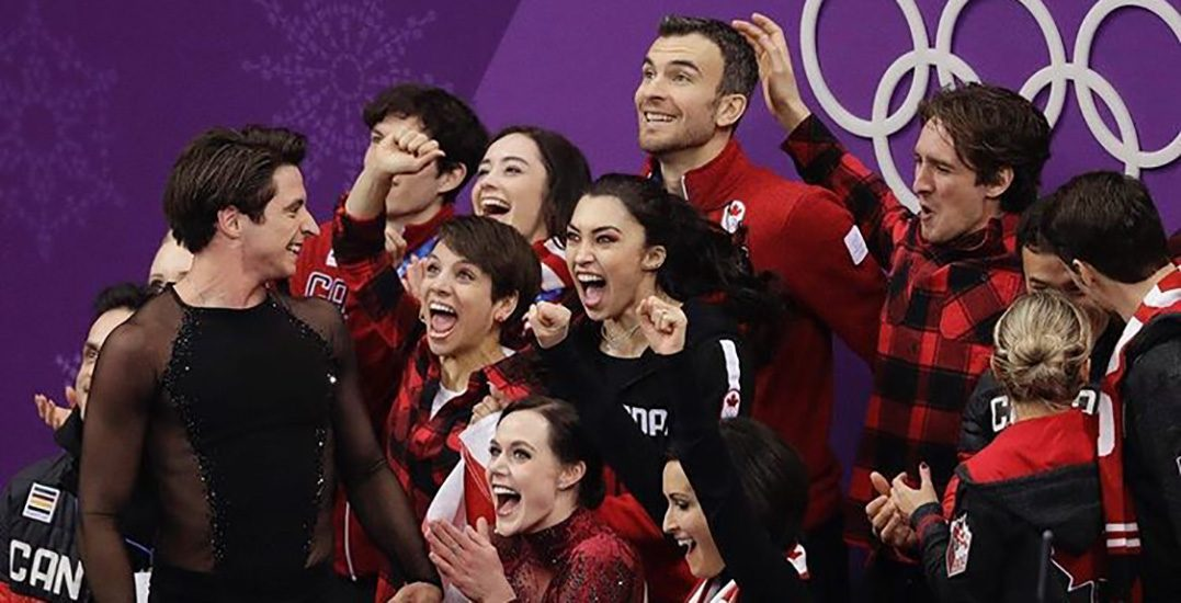 Canada's figure skaters cheer opponents in amazing display of sportsmanship (VIDEO)