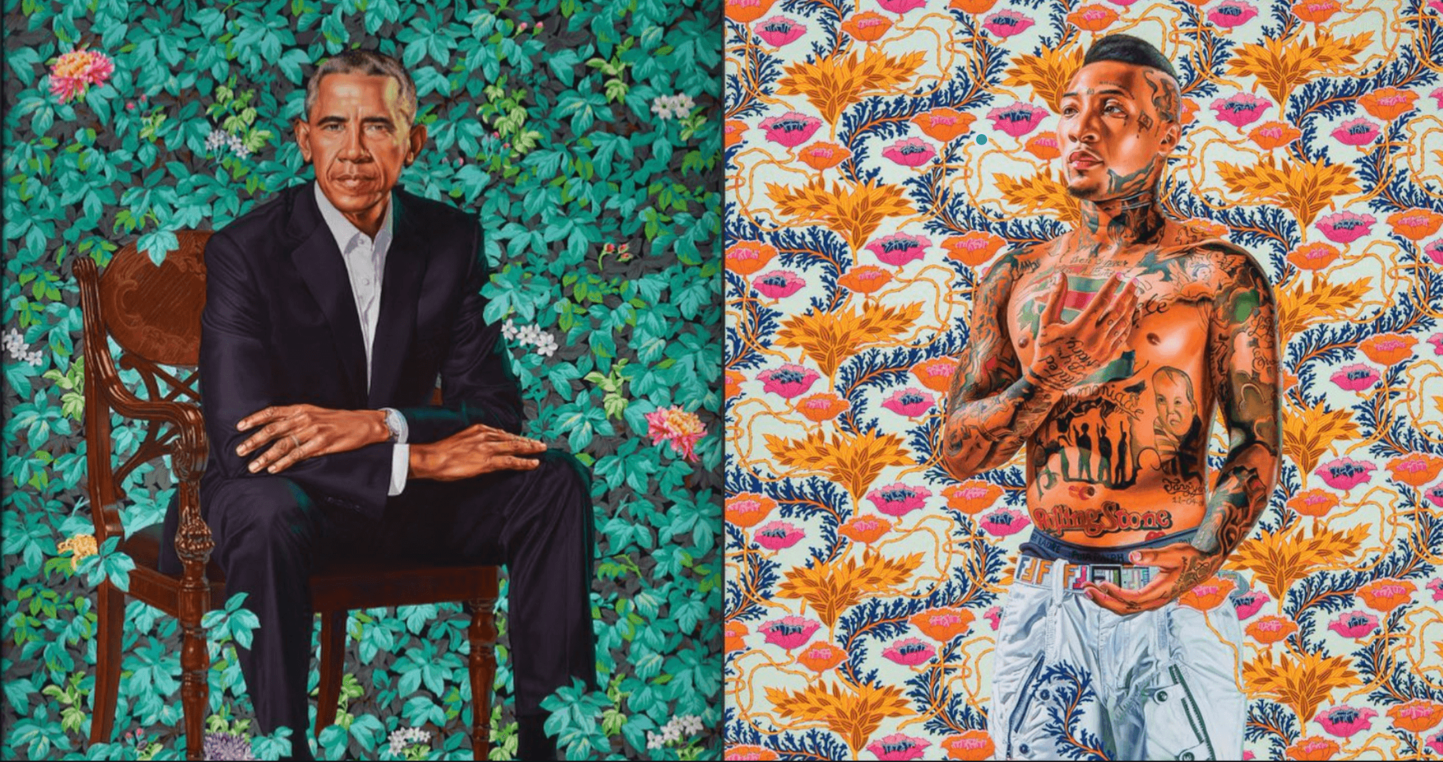 The man behind Barack Obama's official portrait has artwork on display in Montreal