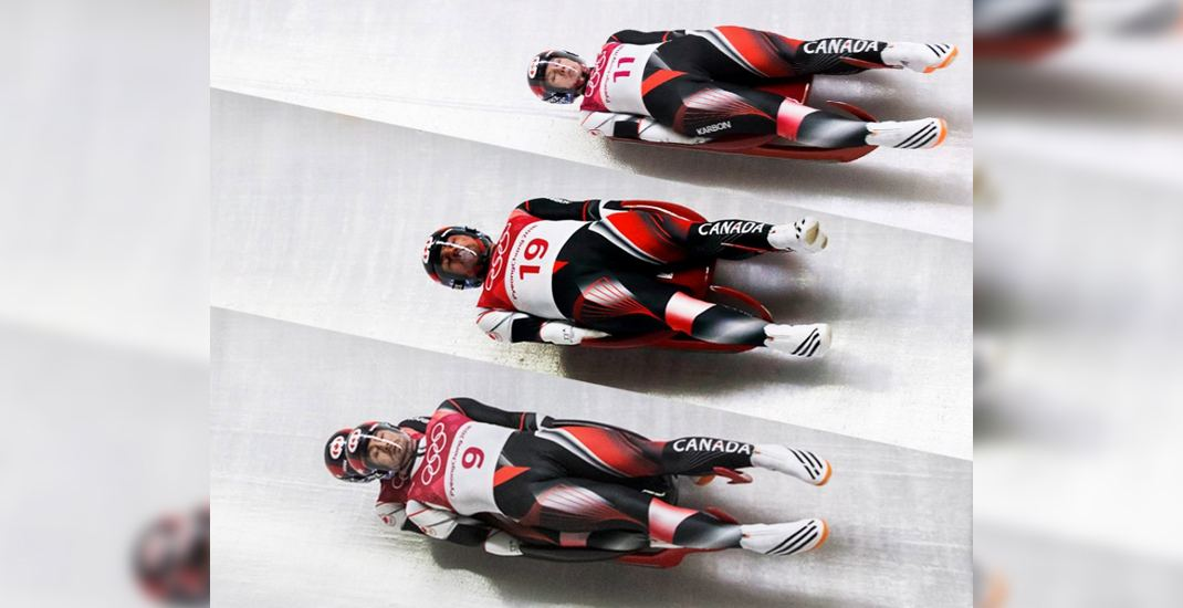 Team Canada captures silver medal in luge team relay