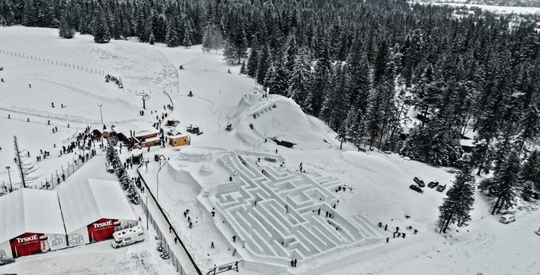 You can get lost in the world's largest snow maze in Ontario this weekend