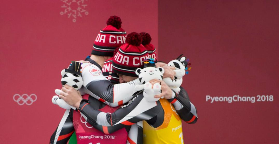 Tears of joy for Canadian luge team after finally achieving Olympic glory (VIDEO)