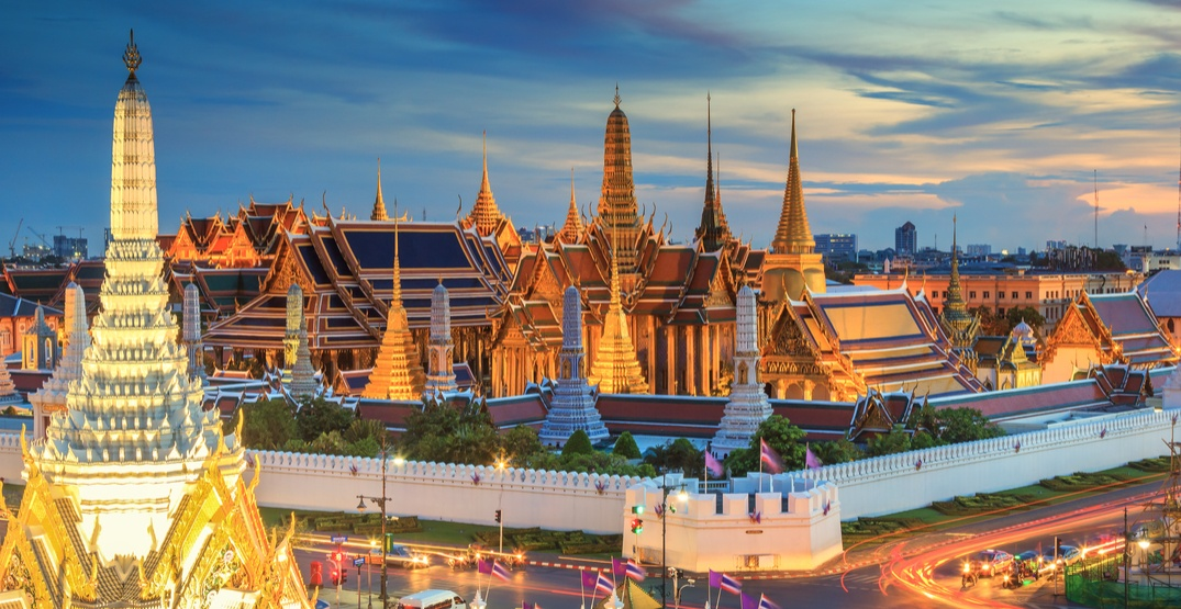 You can fly from Vancouver to Bangkok for just $519 return
