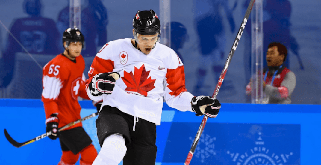Rene bourque canada olympics hockey