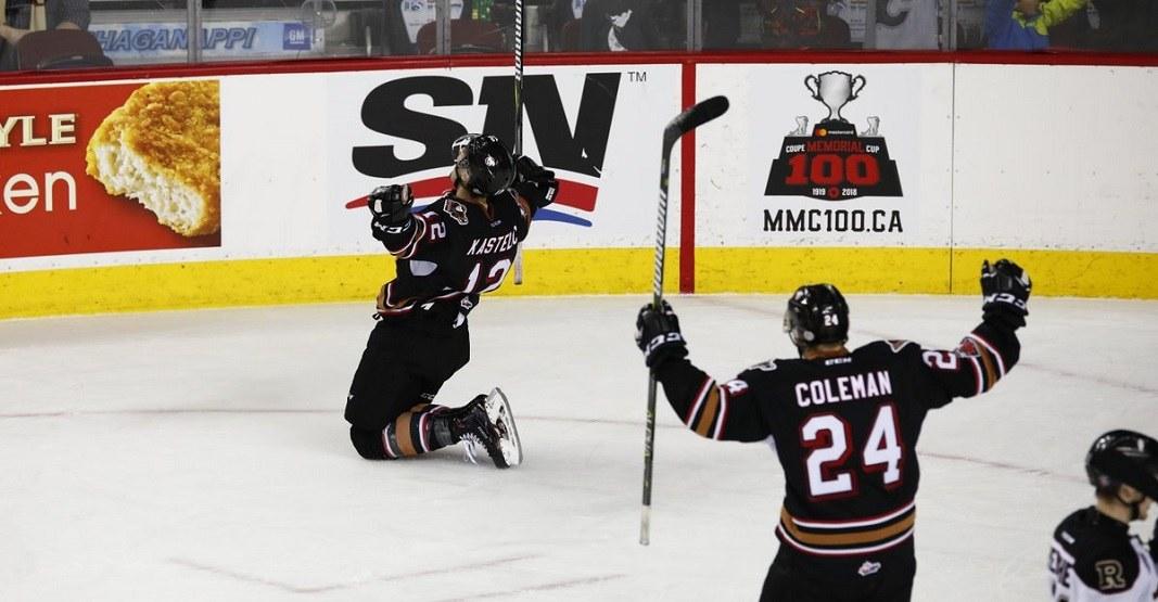 Calgary hitmen celly