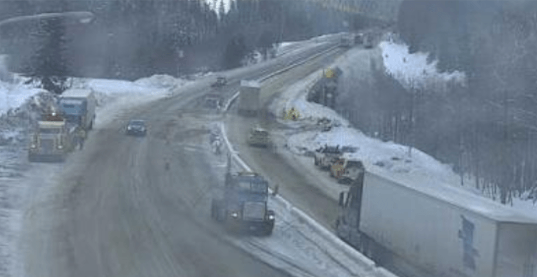 Coquihalla Highway currently closed between Hope and Merritt due to accident