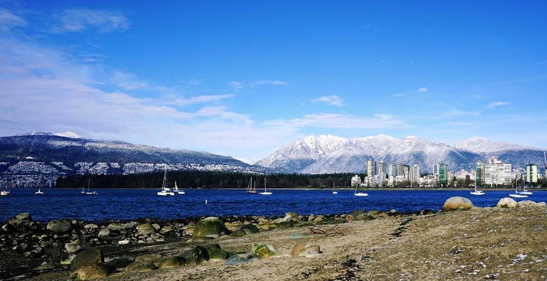 Vancouver snow beach