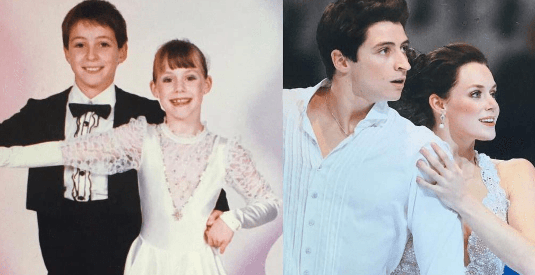 These throwback pictures of Tessa Virtue and Scott Moir skating together as kids are adorable