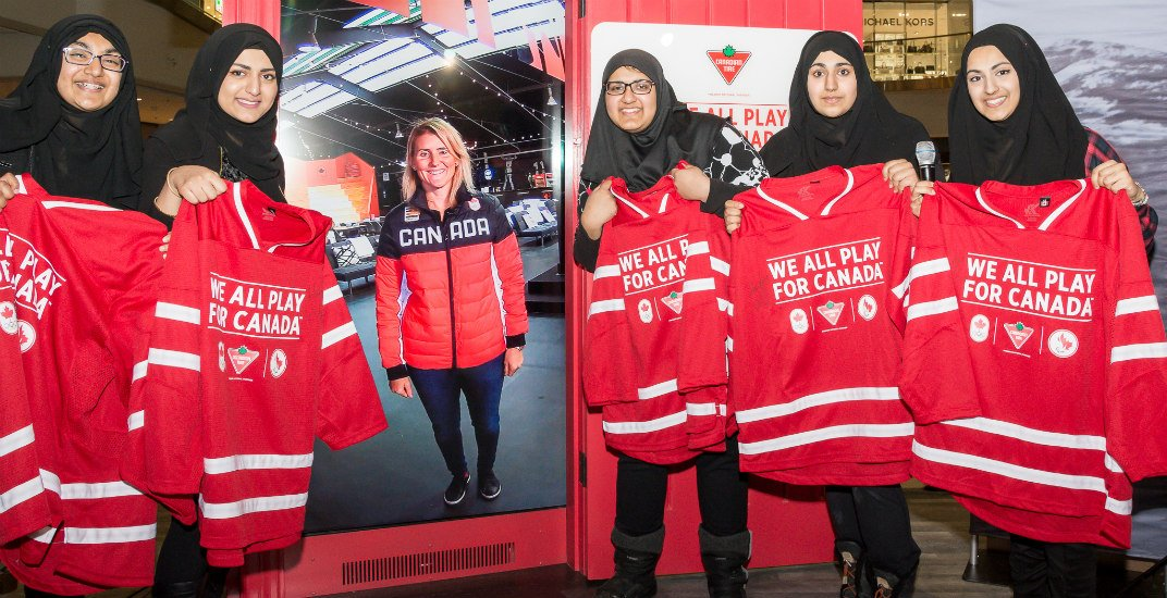 Azmi sisters and hayley wickenheisercanadain tire red door