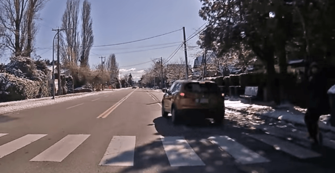Insanely close call between car and pedestrian in Richmond caught on dashcam (VIDEO)