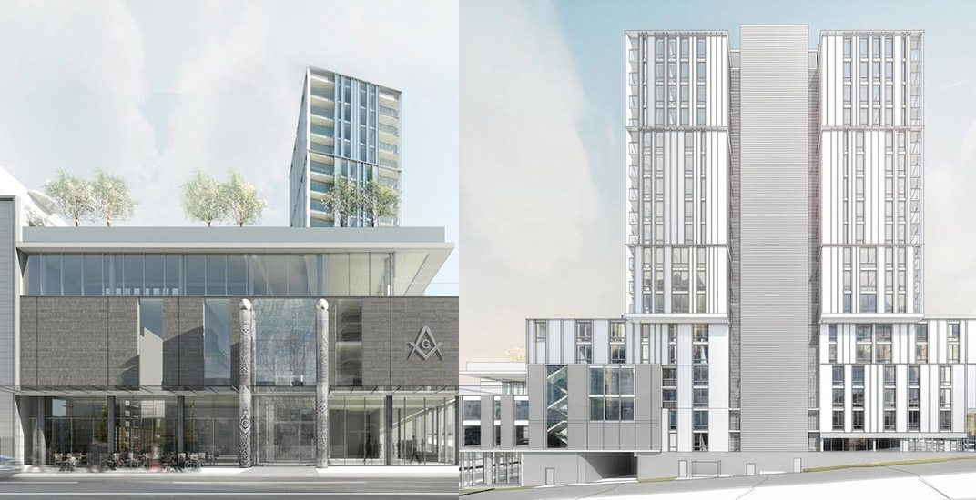 18-storey rental tower included in new Vancouver Masonic Centre