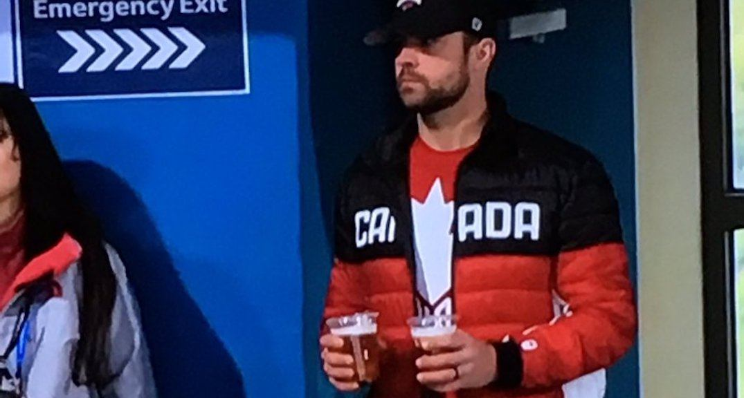 This Olympian's husband double-fisting at 9 am is what Canadian legends are made of