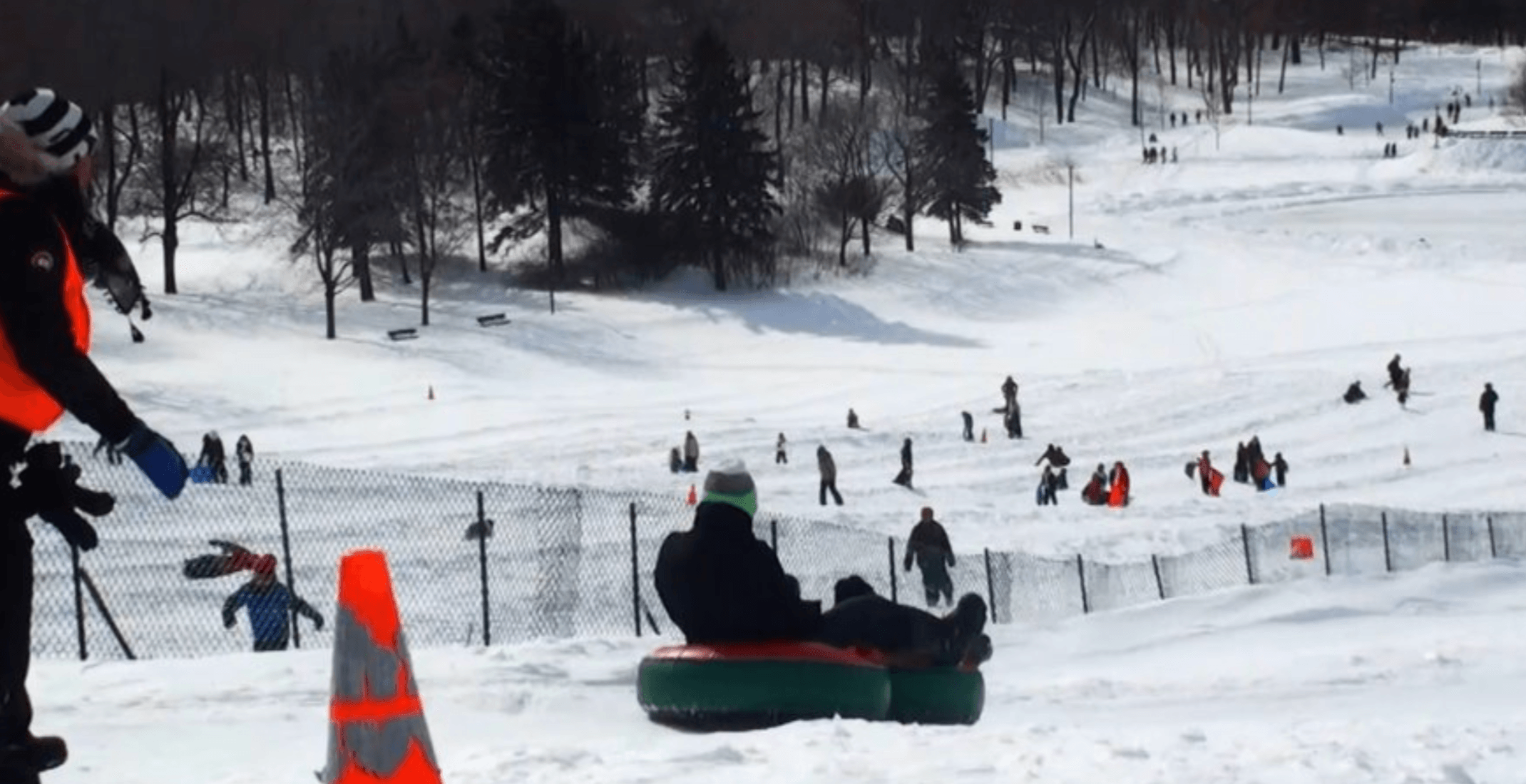 It's so warm in Montreal that you can't go snow tubing on Mount Royal right now