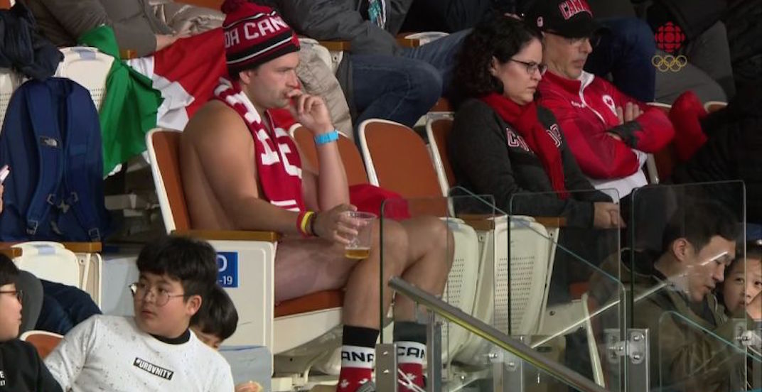 Canada curling fan