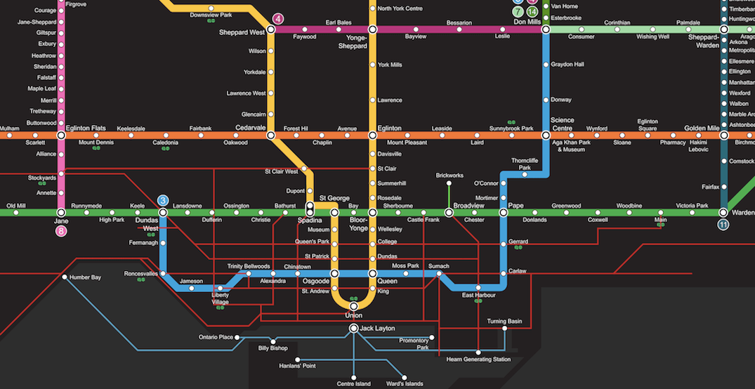 This TTC fantasy map is every Toronto commuter's dream